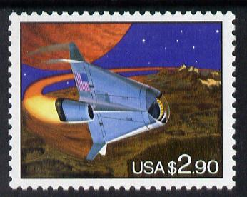 United States 1993 Futuristic Space Shuttle $2.90 unmounted mint SG 2813