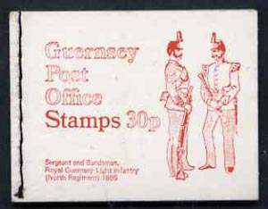 Booklet - Guernsey 1971 30p Booklet (Royal Guernsey Light Infantry) complete and pristine, SG B9