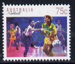 Australia 1989-94 Netball 75c unmounted mint, from Sports def set of 19, SG 1188