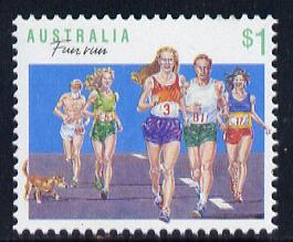 Australia 1989-94 Running $1 unmounted mint, from Sports def set of 19, SG 1192