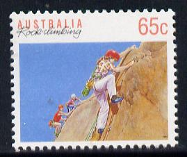 Australia 1989-94 Rock Climbing 65c unmounted mint, from Sports def set of 19, SG 1186