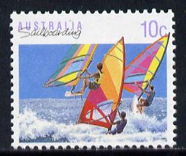 Australia 1989-94 Sailboarding 10c unmounted mint, from Sports def set of 19, SG 1174