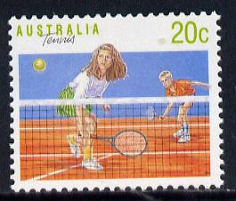 Australia 1989-94 Tennis 20c unmounted mint, from Sports def set of 19, SG 1176