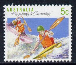 Australia 1989-94 Kayak & Canoeing 5c unmounted mint, from Sports def set of 19, SG 1172