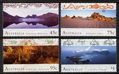 Australia 1996 World Heritage Sites (2nd series) set of 4 unmounted mint, SG 1582-85