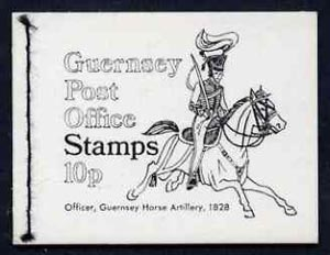 Booklet - Guernsey 1971 10p Booklet (Royal Guernsey Horse Artillery) complete and pristine, SG B7