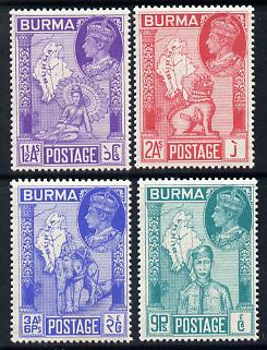 Burma 1946 Victory set of 4 unmounted mint SG 64-7