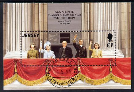 Jersey 1995 50th Anniversary of Liberation m/sheet fine cto used SG MS706