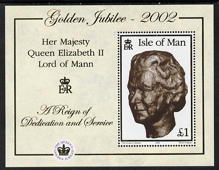 Isle of Man 2002 Golden Jubilee perf m/sheet unmounted mint SG MS 975