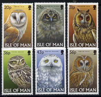 Isle of Man 1997 Owls perf set of 6 unmounted mint SG 734-39