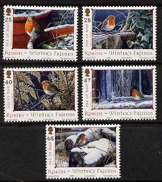 Isle of Man 2004 Robins - Winter's friends perf set of 5 unmounted mint SG 1185-89