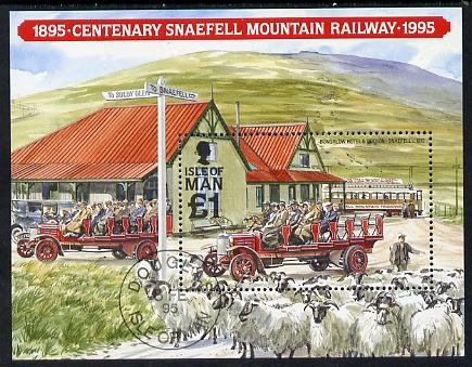 Isle of Man 1995 Centenary of Snaefell Mountain Railway m/sheet cto used, SG MS 638