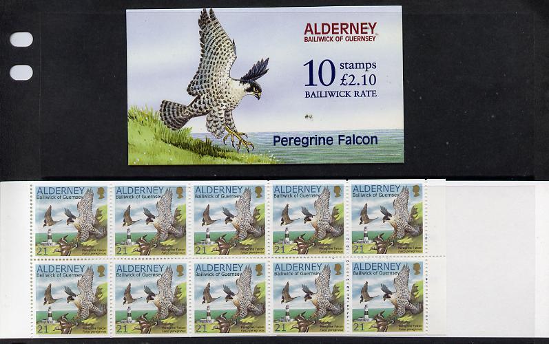 Booklet - Guernsey - Alderney 2000 Peregrine Falcon �2.10 booklet complete & fine SG ASB8