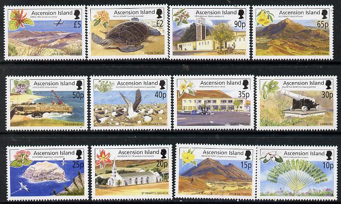 Ascension 2002 Island Views definitive set complete - 12 values 10p to \A35 unmounted mint SG851-62