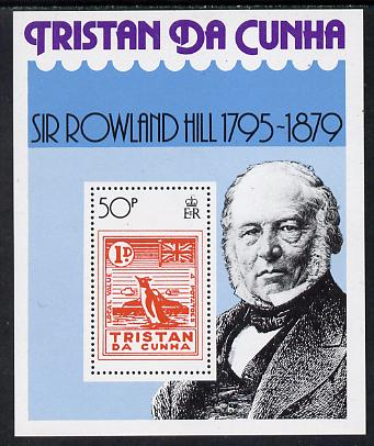 Tristan da Cunha 1979 Rowland Hill perf m/sheet unmounted mint SG MS 267