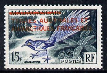 French Southern & Antarctic Territories 1955 Overprint on Madagascar 15f unmounted mint SG 1