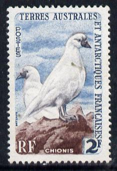 French Southern & Antarctic Territories 1956-60 Black-Faced Sheathbills 2f unmounted mint SG 6