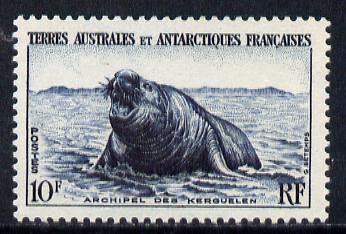 French Southern & Antarctic Territories 1956-60 Elephant Seal 10f unmounted mint SG 10