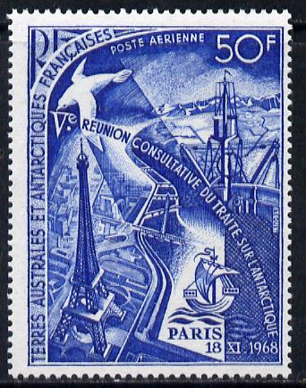 French Southern & Antarctic Territories 1969 Fifth Antarctic Treaty Meeting 50f unmounted mint SG 51