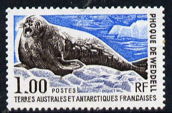 French Southern & Antarctic Territories 1976 Weddell Seal 1f unmounted mint SG 101