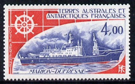 French Southern & Antarctic Territories 1976 Marion Dufresne (supply ship( 4f unmounted mint SG 106