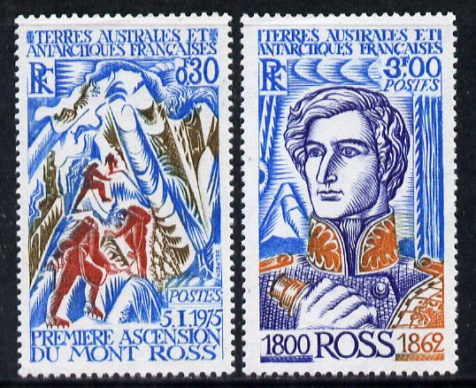 French Southern & Antarctic Territories 1977 Ross Commemoration set of 2 unmounted mint SG 111-2
