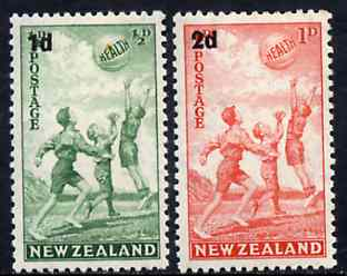 New Zealand 1939 Health - Children Playing with Beach Ball set of 2 unmounted mint SG 611-12*