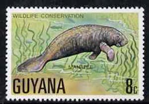 Guyana 1978 Manatee 8c unmounted mint from Wildlife Conservation set, SG 685*