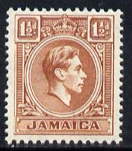 Jamaica 1938-52 KG6 1.5d brown unmounted mint, SG 123