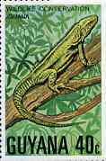 Guyana 1978 Iguana 40c unmounted mint from Wildlife Conservation set, SG 688*