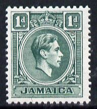 Jamaica 1938-52 KG6 1d blue-green unmounted mint, SG 122a