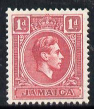 Jamaica 1938-52 KG6 1d scarlet unmounted mint, SG 122