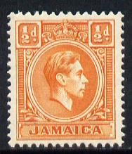 Jamaica 1938-52 KG6 1/2d orange unmounted mint, SG 121b
