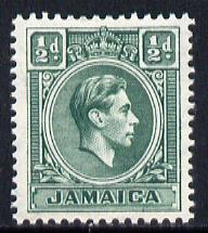 Jamaica 1938-52 KG6 1/2d blue-green unmounted mint, SG 121