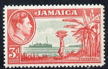 Jamaica 1938-52 KG6 Bananas 3d green & scarlet unmounted mint, SG 126c