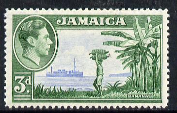 Jamaica 1938-52 KG6 Bananas 3d ultramarine & green unmounted mint, SG 126