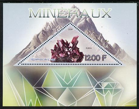 Congo 2014 Minerals perf s/sheet containing one triangular-shaped value unmounted mint