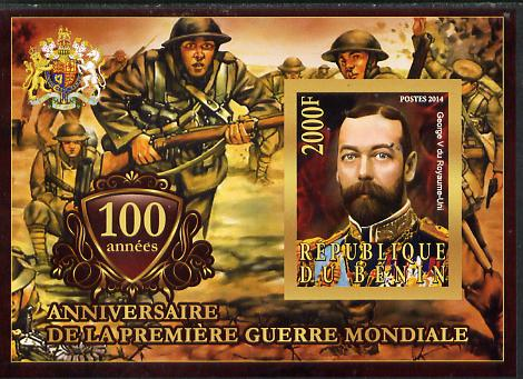 Benin 2014 Centenary of Start of WW1 #2 imperf deluxe sheet containing one value unmounted mint