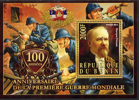 Benin 2014 Centenary of Start of WW1 #4 perf deluxe sheet containing one value unmounted mint