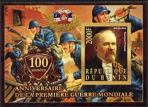 Benin 2014 Centenary of Start of WW1 #4 imperf deluxe sheet containing one value unmounted mint