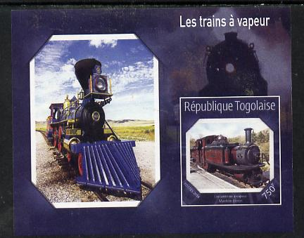 Togo 2014 Steam Locomotives imperf s/sheet E unmounted mint. Note this item is privately produced and is offered purely on its thematic appeal