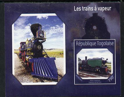 Togo 2014 Steam Locomotives imperf s/sheet F unmounted mint. Note this item is privately produced and is offered purely on its thematic appeal