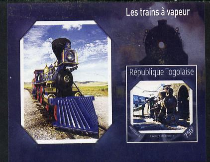 Togo 2014 Steam Locomotives imperf s/sheet G unmounted mint. Note this item is privately produced and is offered purely on its thematic appeal