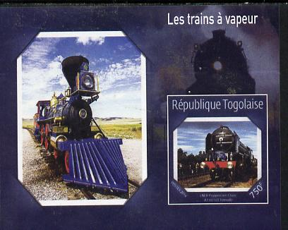 Togo 2014 Steam Locomotives imperf s/sheet H unmounted mint. Note this item is privately produced and is offered purely on its thematic appeal