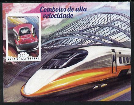 Guinea - Bissau 2014 High Speed Trains #4 imperf deluxe sheet unmounted mint. Note this item is privately produced and is offered purely on its thematic appeal