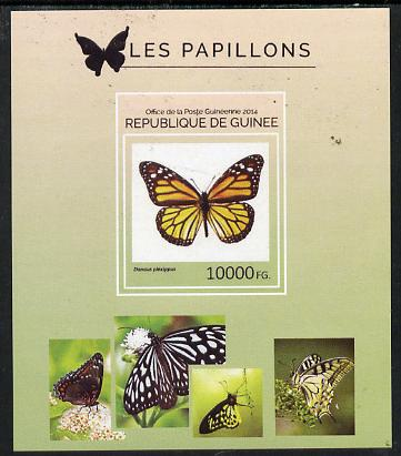 Guinea - Conakry 2014 Butterflies #7 imperf s/sheet unmounted mint. Note this item is privately produced and is offered purely on its thematic appeal