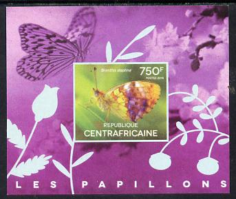 Central African Republic 2014 Butterflies #03 imperf s/sheet A unmounted mint. Note this item is privately produced and is offered purely on its thematic appeal
