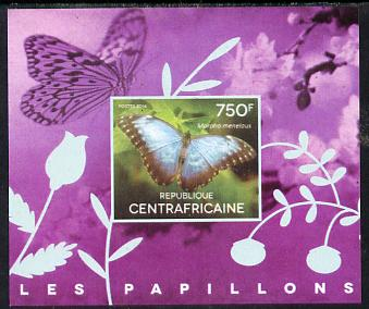 Central African Republic 2014 Butterflies #03 imperf s/sheet B unmounted mint. Note this item is privately produced and is offered purely on its thematic appeal