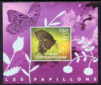 Central African Republic 2014 Butterflies #03 imperf s/sheet D unmounted mint. Note this item is privately produced and is offered purely on its thematic appeal