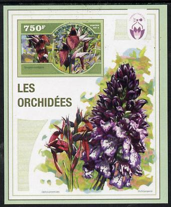 Niger Republic 2014 Orchids #4 imperf s/sheet unmounted mint. Note this item is privately produced and is offered purely on its thematic appeal